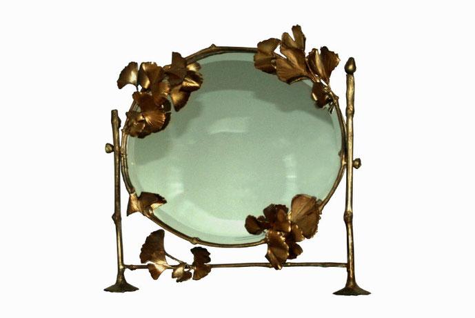 Psyché, bronz, cupru aurit şi oglindă, 48 x 43 cm