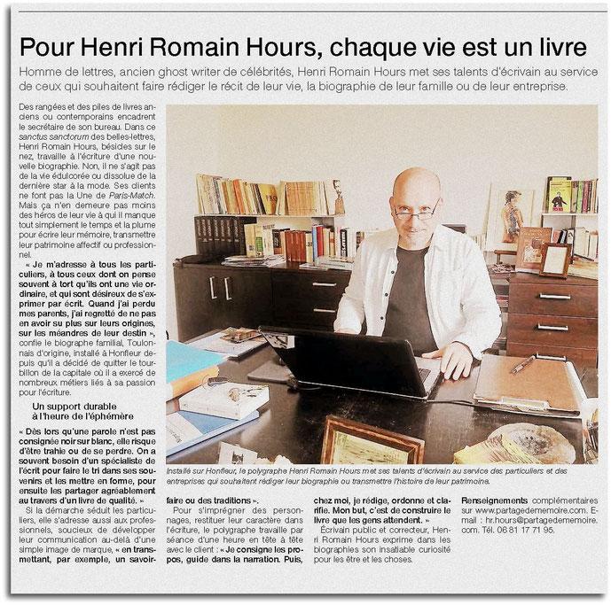 biographe écrivain public conseil en communication écrite et création littéraire normandie
