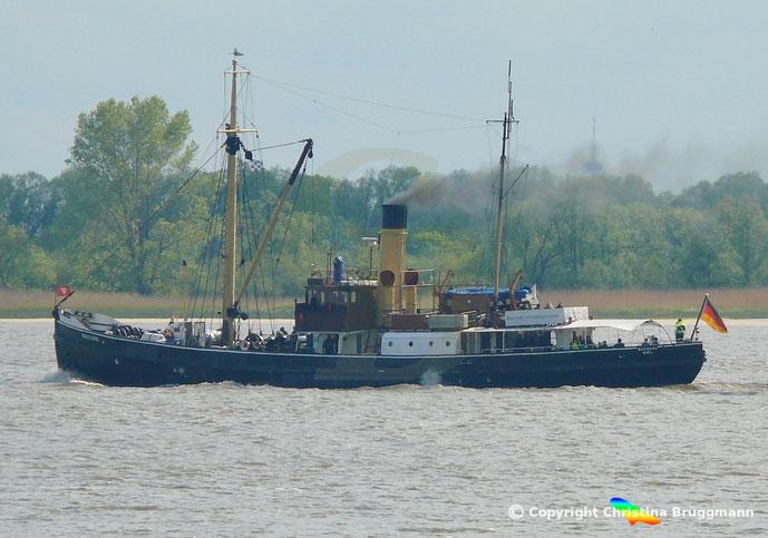 Museums- Tonnenleger BUSSARD, Elbe 09.05.2019