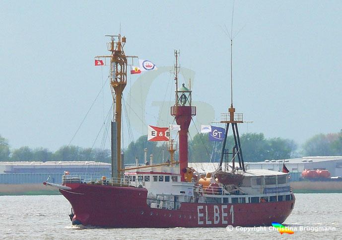 Feuerschiff Bügermeister O´swald II (Elbe 1) Elbe 09.05.2019