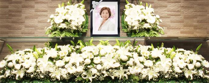 家族葬プラン50祭壇