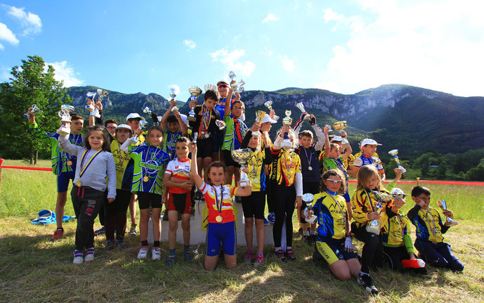 Podium de la Mini Carach Bike 2015