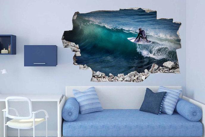 Vinilos efecto 3D Surf