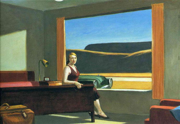 "Edward Hopper, ""Western Motel"" (1957)"