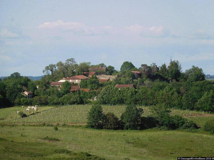 Le quartier de la Madelaine Ladevèze-Ville Gers château fort fortifié tour