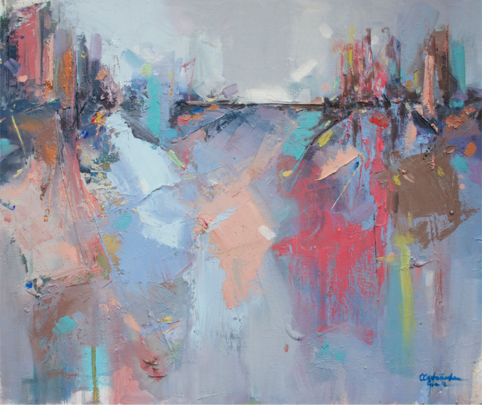 Internal Light nº 7 | Oil painting on canvas | 46 x 55 cm | 2015 | Cristina Castañeda Granja
