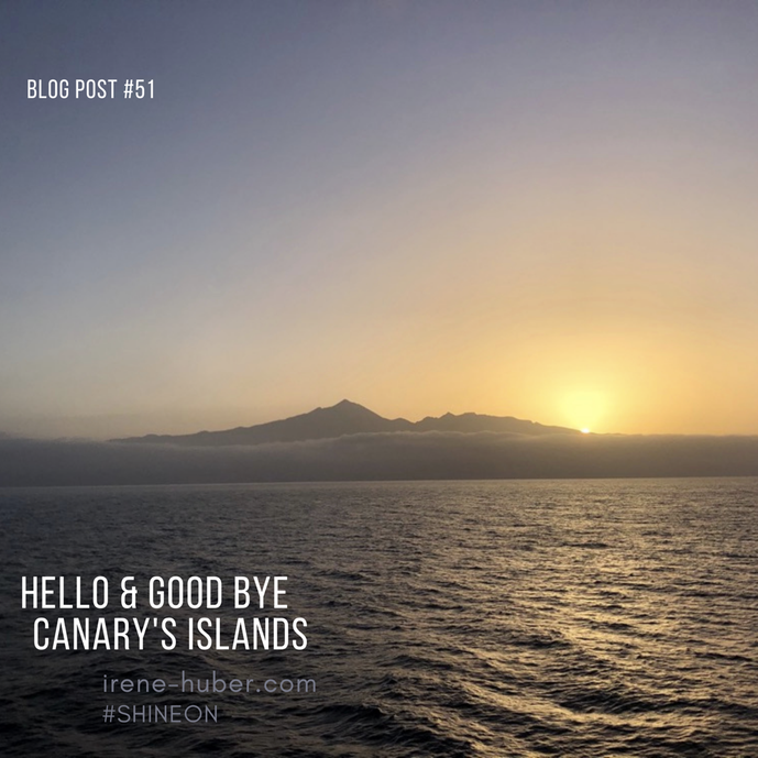 Leaving La Gomera on a ferry - sunrise over Tenerife _ 07/2021