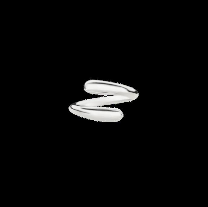 Offener, geschwungener, massiver Ring aus 925 Sterling Silber. Anpassbarer Ring. Boldring, Silberring, Ring aus Silber. Ring Tropfen. Schmuck vom Goldschmied. Handgefertigter Ring. Größenanpassbar.