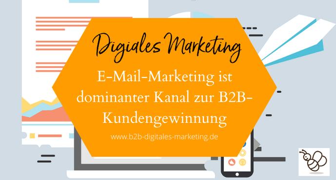 E-Mail-Marketing ist gute Strategie zur Kundengewinnung im B2B Vertrieb
