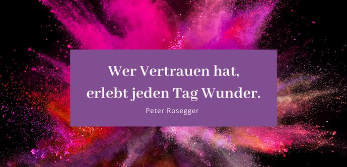"""Zitat: """"Wer Vertrauen hat, erlebt jeden Tag Wunder."""" Gastbeitrag von Manuela Lamberti Lieber glücklich mit #Vertrauen #Blog #Glück"""