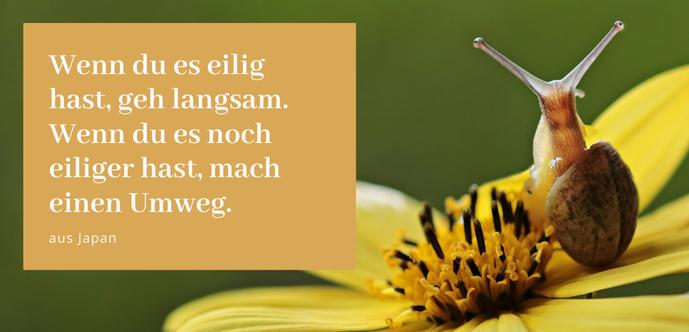 """""""Wenn du es eilig hast gehe langsam"""" (Zitat aus Japan) Gastbeitrag von Larisa Vlasov zu """"Slow Down"""", Blogreihe Lieber glücklich von A bis Z #Blog #SlowDown #Langsamkeit #glück #glücklich #lieberglücklich"""