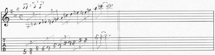 【初心者】ギターアドリブ入門講座 ブルーノート(2オクターブ、三連符)