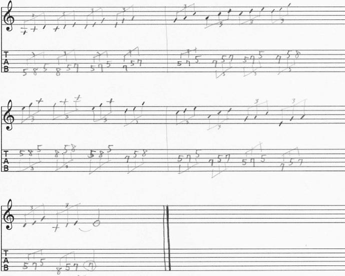【初心者】ギターアドリブ講座 音型トレーニング Aマイナーペンタトニック 三音パターン① 上昇下降