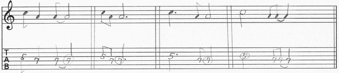 【初心者】ギターアドリブ入門講座 モチーフの発展法 譜割りを変化