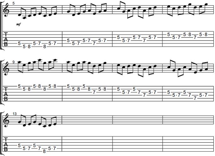 【初心者】ギターアドリブ講座 音型トレーニング 音型3-2