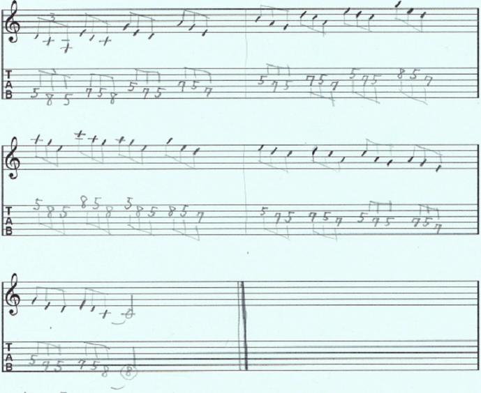 【初心者】ギターアドリブ講座 音型トレーニング4-b3-root 練習