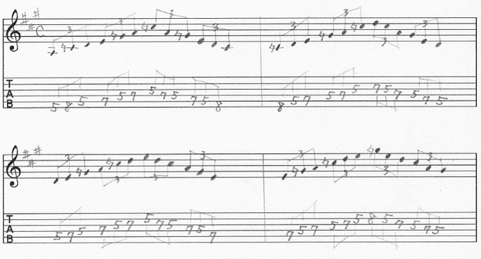 【初心者】ギターアドリブ入門講座 三連符トレーニング2-1