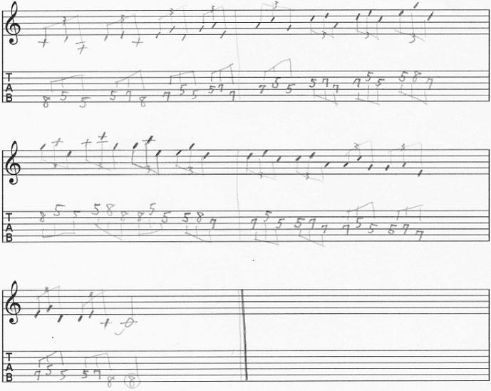 【初心者】ギターアドリブ講座 音型トレーニング Aマイナーペンタトニック 三音パターン② 上昇下降