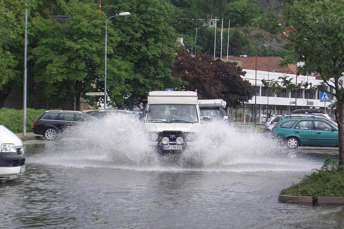 Das war unser Parkplatz