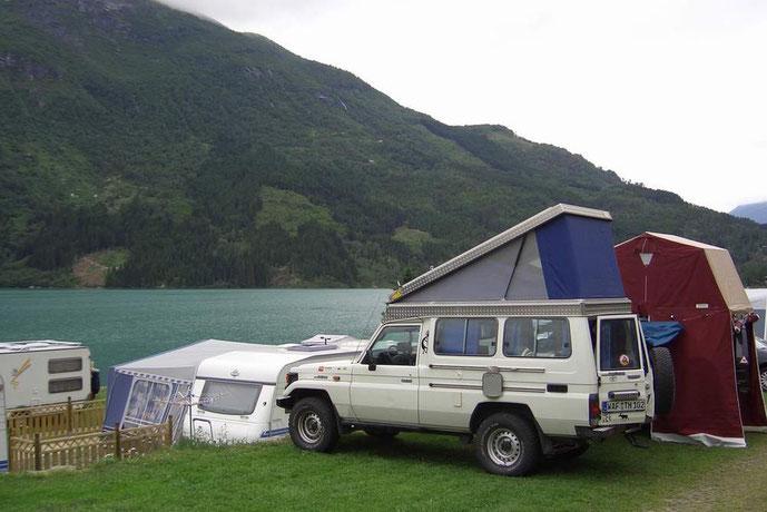 Unser Campingplatz am Lovatnet