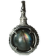 A treasure ball that prays at the sacred place Utaki in Okinawa Labradorite Power stone Pendant Necklace