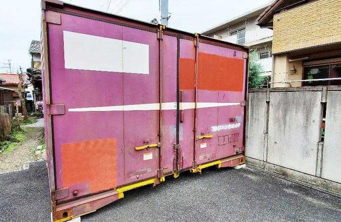 滋賀県米原市 中古コンテナ12ft現状品設置