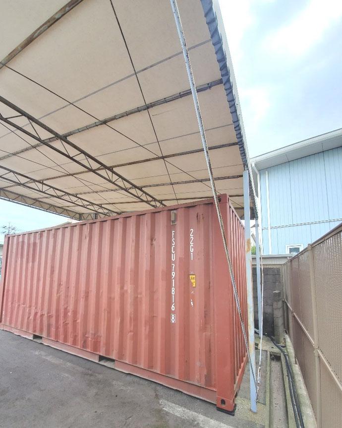 岡山県倉敷市 中古コンテナ20ft設置