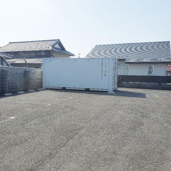 岐阜県大垣市 NEWVANコンテナ20ftライトグレー開口設置