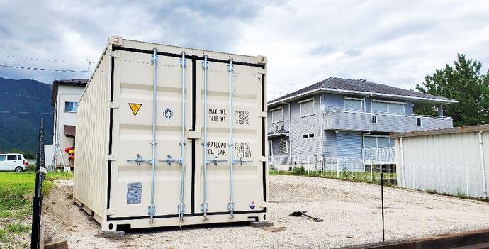 滋賀県大津市 NEWVANコンテナ20ft設置