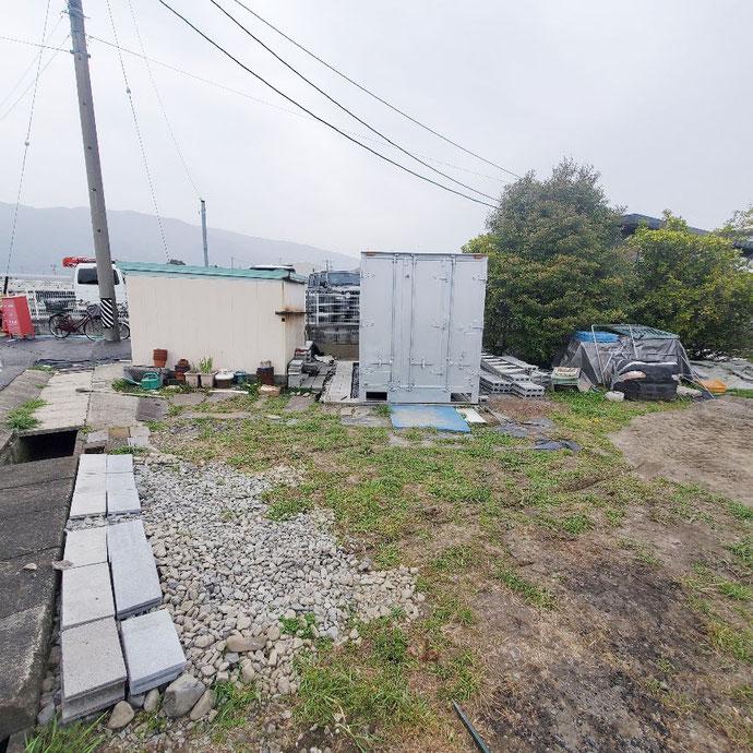 揖斐郡池田町 中古アルミコンテナサイドドアLED電気付き設置