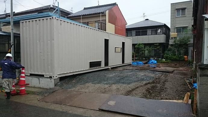 愛知県名古屋市 中古コンテナ40ftハイキューブ改造品 納品
