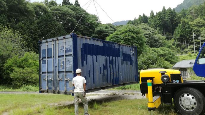 滋賀県東近江市 中古コンテナ20ft 現状品納品