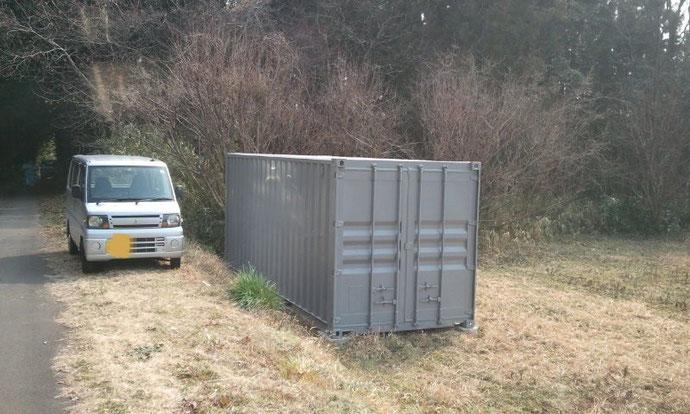 三重県 中古コンテナ20ftグレー塗装 i様に納品