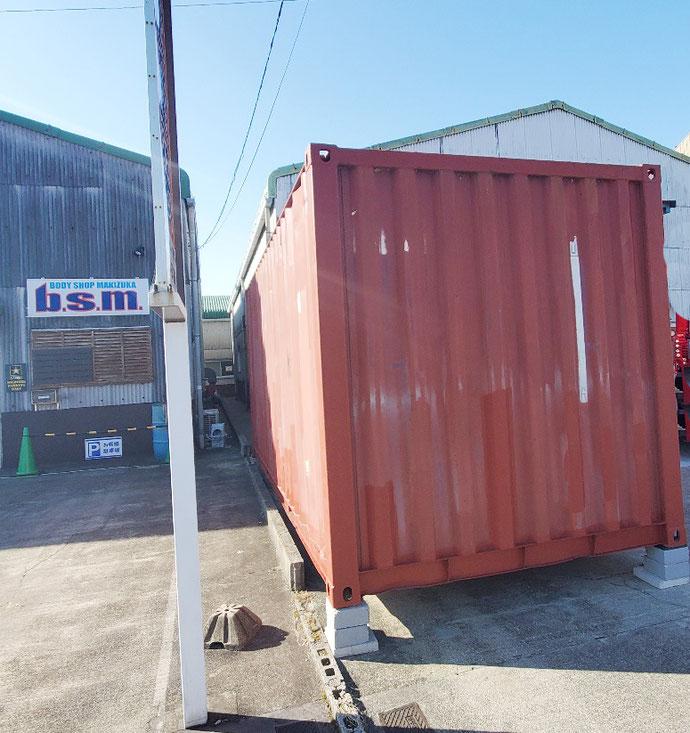 愛知県岡崎市 中古コンテナ20ft改造品納品