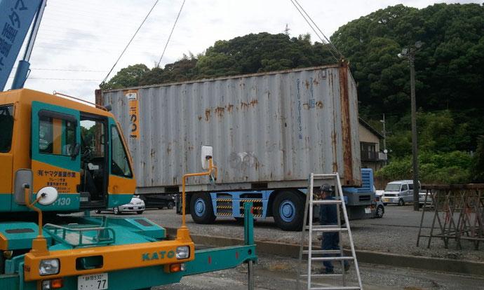 静岡県にて20ftコンテナを買取りました
