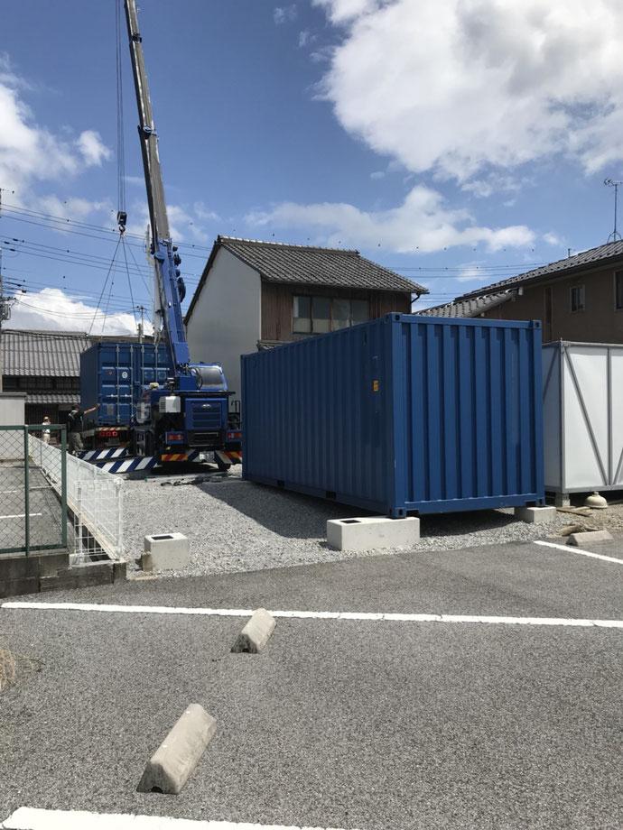 滋賀県彦根市 NEWVANコンテナ20ft2本設置