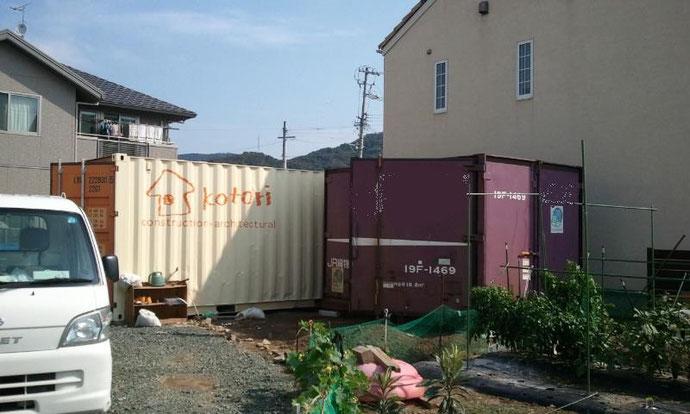 愛知県東部 中古コンテナ12ft 貨物タイプ 納品