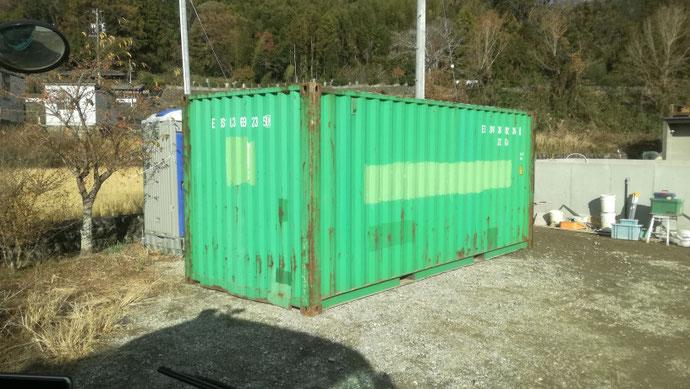 三重県松阪市 中古コンテナ20ft現状品設置