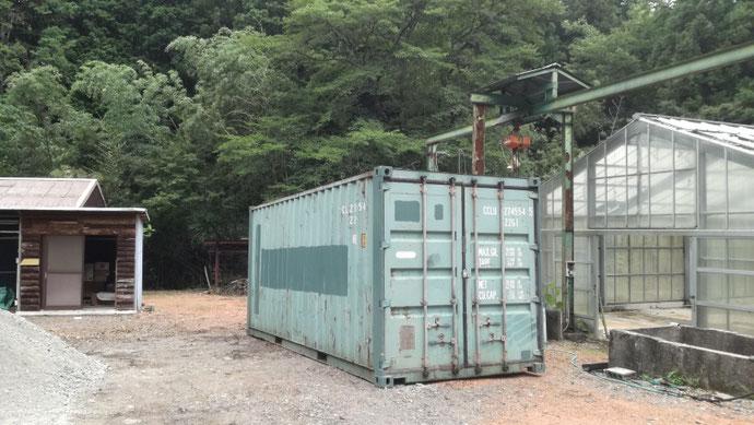 岐阜県関市 中古コンテナ20ft現状品納品