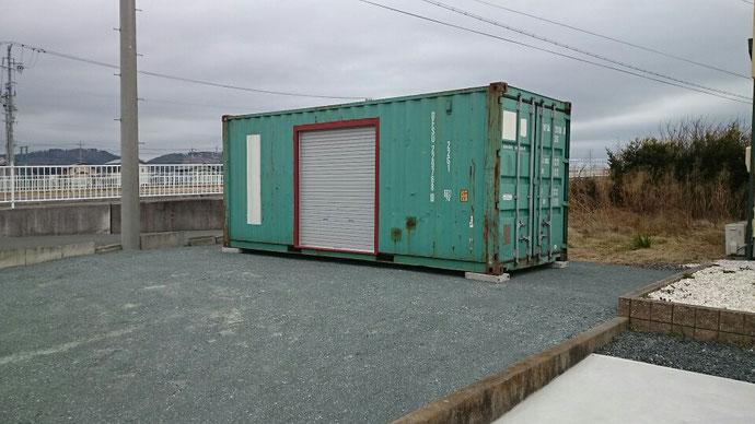 静岡県浜松市 V社様 20ft現状品 シャッター1,800取付納品