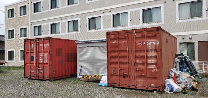 三重県四日市 中古コンテナ20ft現状品2本設置