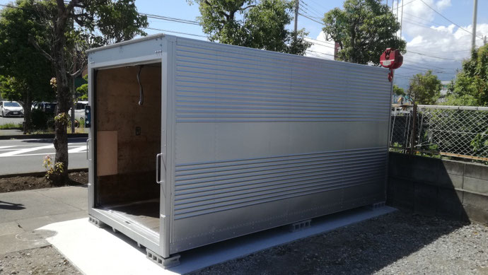 静岡市駿河区 中古コンテナ20ft現状品設置