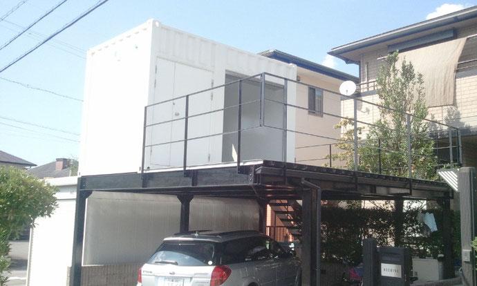 三重県四日市市 新造コンテナ12ftドアシャッター付き