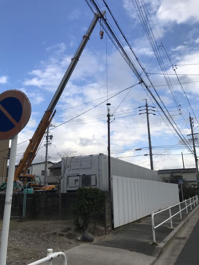 愛知県名古屋市中村区 中古コンテナ40ftリーファ・ドア・遮熱納品
