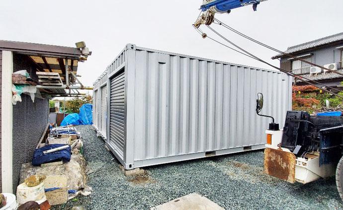 福井県敦賀市 NEWVANコンテナ20ftハイキューブサイドオープン設置