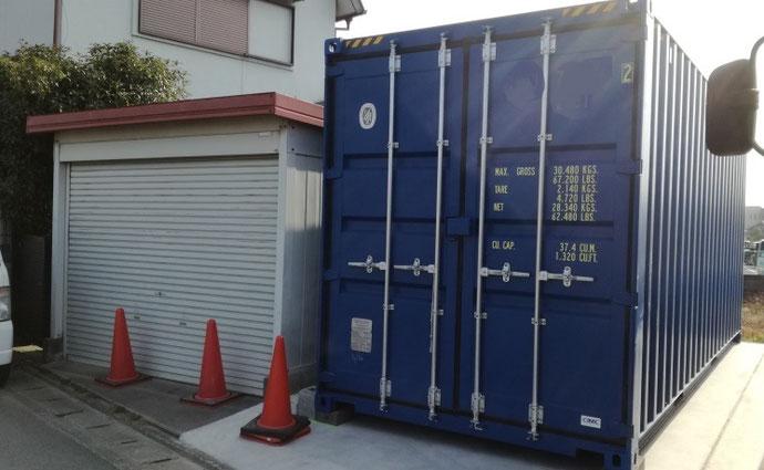 大阪府枚方市 NEWVANコンテナ20ft設置