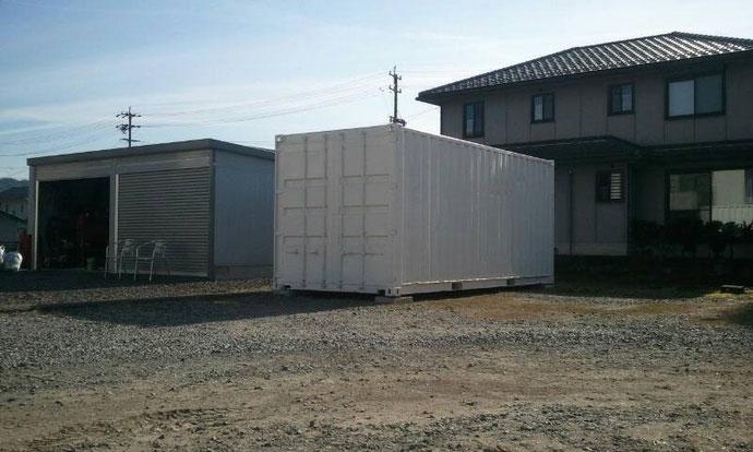 岐阜県美濃加茂市 中古コンテナ20ftホワイト 納品