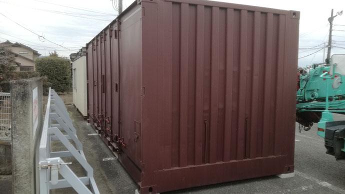 埼玉県富士見市 中古貨物コンテナ20ft設置