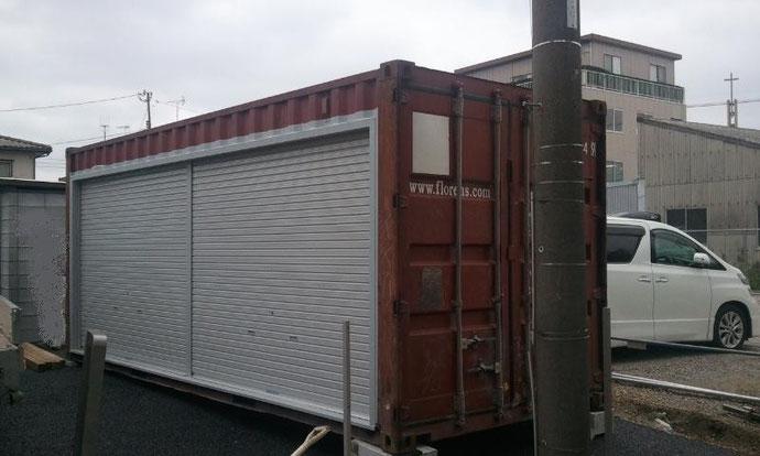 千葉県 中古コンテナ20ft現状品 シャッター付