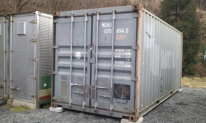 富山県 自営業様 中古コンテナ20ft MOAU 042970納品